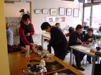 朝粥食べて、おシャベリ会(2)