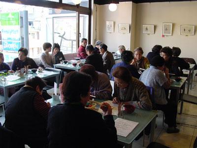 朝粥食べて、おシャベリ会(1)