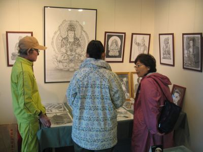 アートPIKASO個展 シャープペンシルだけで描く 仏の世界(5)