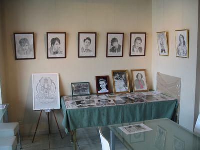アートPIKASO展 シャープペンシルだけで描く ミツグの顔(2)